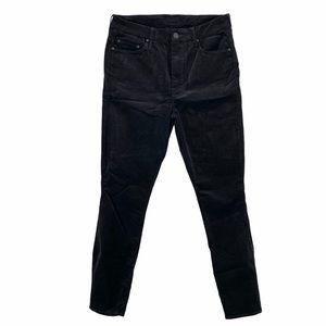 MOTHER High Waisted Looker Ankle Plush Velvet Pant